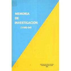 MEMORIA DE INVESTIGACION DE...